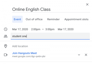 Use Google Hangouts for Teaching English Online