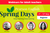 Pearson English Spring Days: Adult Sessions