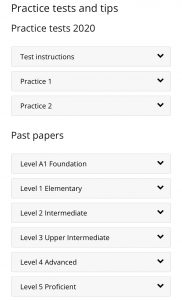 Lots of resources Pearson English Warm Up app