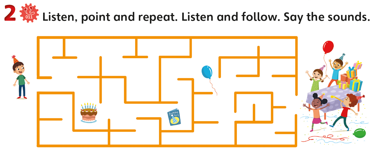 Encourage young learners - motor skills - maze