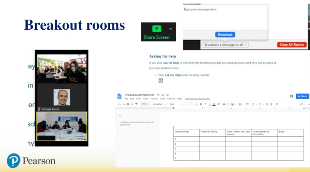 Using breakout rooms for teaching online exam classes