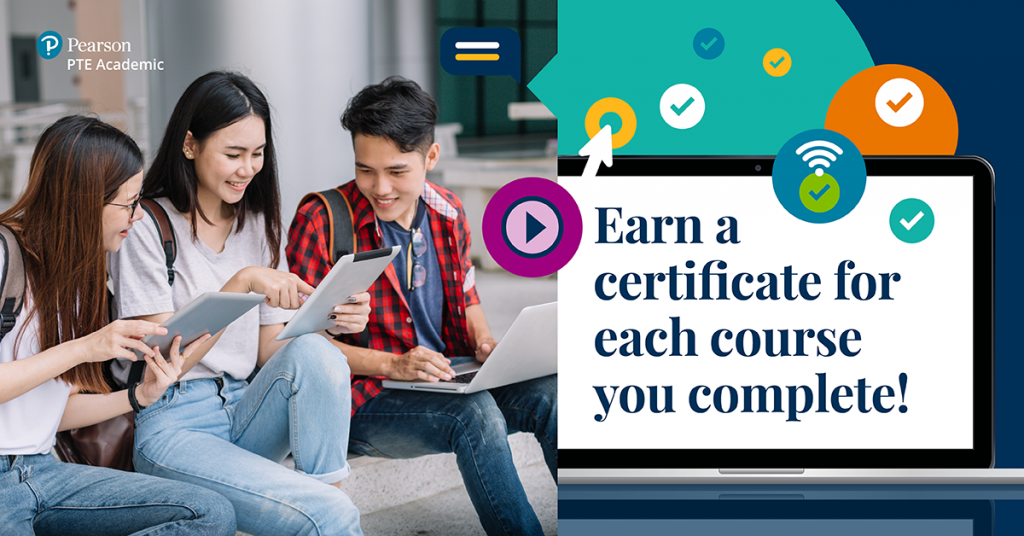 Earn a certificate for each module of PTE Academic for Teachers