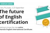 Pearson English International Certificate webinars