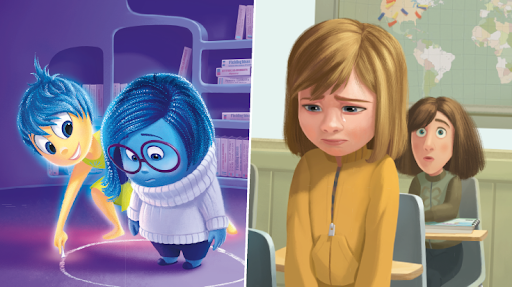 Images from Disney kids Readers showing 2 sceens with unhappy characters.